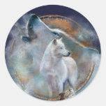Dream Catcher - Spirit Wolf Art Sticker