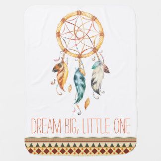 Dream Catcher Tribal Boho Baby Blanket