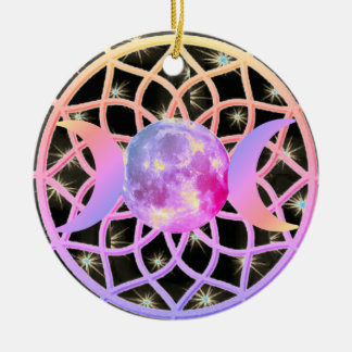 Dream Catcher Triple Goddess Christmas Ornament