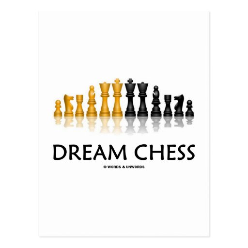 Dream Chess (Reflective Chess Set) Post Cards