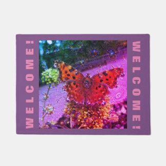 Dream Creatures, Butterfly, DeepDream 2.2 Doormat