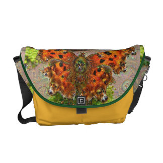 Dream Creatures, Butterfly, DeepDream Messenger Bags