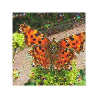 Dream Creatures, Butterfly, DeepDream Stretched Canvas Prints
