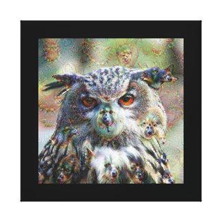 Dream Creatures, Eagle Owl, DeepDream Canvas Prints
