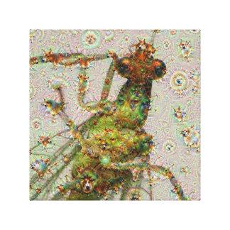 Dream Creatures, Lacewing, DeepDream Gallery Wrap Canvas