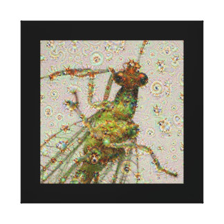 Dream Creatures, Lacewing, DeepDream Stretched Canvas Print