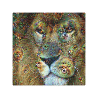Dream Creatures, Lion, DeepDream Gallery Wrapped Canvas