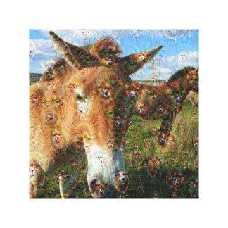 Dream Creatures, Przewalski's horse, DeepDream Canvas Prints