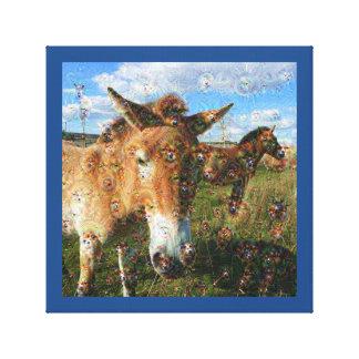 Dream Creatures, Przewalski's horse, DeepDream Stretched Canvas Prints