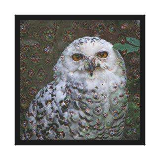Dream Creatures, Snowy Owl, DeepDream Gallery Wrap Canvas