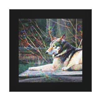 Dream Creatures, Wolf, DeepDream Canvas Prints