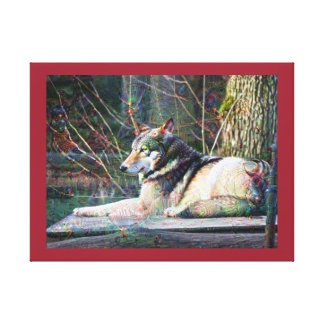 Dream Creatures, Wolf, DeepDream Gallery Wrap Canvas