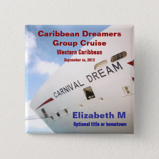Dream Cruise Personalized Name Pin