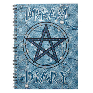 Dream Diary - blue Spiral Notebook
