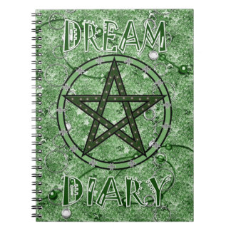 Dream Diary - green Spiral Notebook