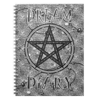 Dream Diary - greyscale Notebook