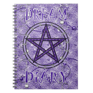 Dream Diary - lilac Spiral Notebook