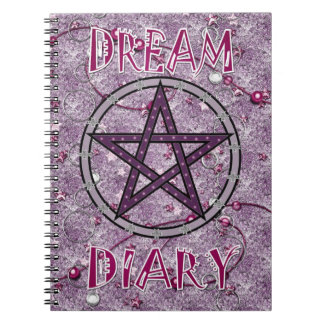 Dream Diary - pink Spiral Notebook