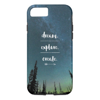 Dream. Explore. Create. iPhone Case