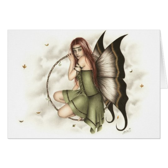 Dream Fairy Autumn Greeting Card