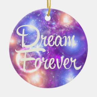 Dream Forever Purple Space Christmas Ornament