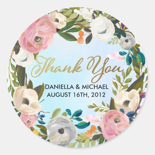 Dream Garden Floral Wedding Custom Favour Classic Round