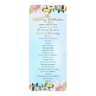 Dream Garden Floral Wedding Program