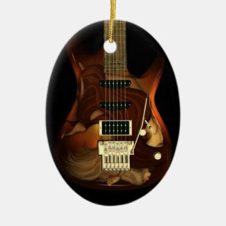 Dream Guitar - Grace Oval Ornament