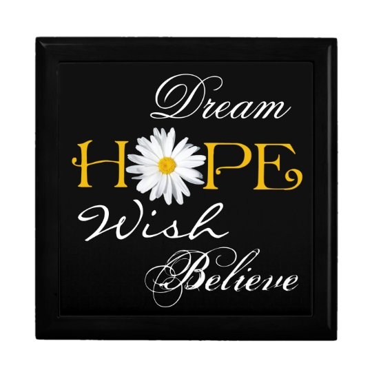 Dream, Hope, Wish, Believe Keepsake or Jewellery B