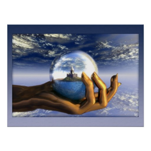 Dream in a hand poster