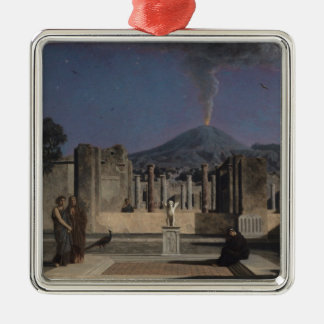Dream in the Ruins of Pompeii, 1866 Silver-Colored Square Decoration