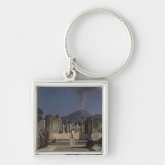 Dream in the Ruins of Pompeii, 1866 Silver-Colored Square Key Ring
