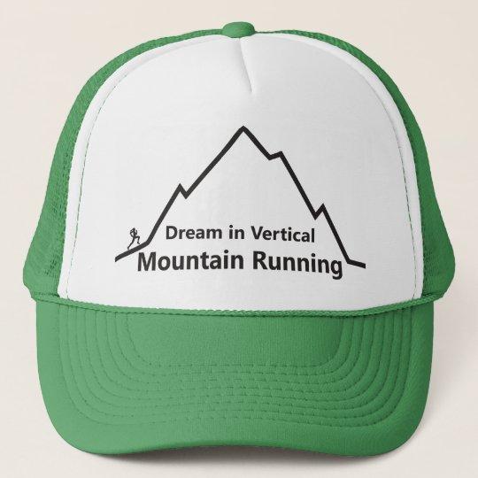 Dream in Vertical Mountain Running trucker hat