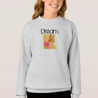 Dream Inspiration Butterfly Art Girl's Sweatshirt