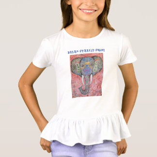Dream Inspiration Elephant Girls Ruffle Shirt