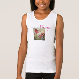 Dream Inspiration Hummingbird Art Girl's Tank Top