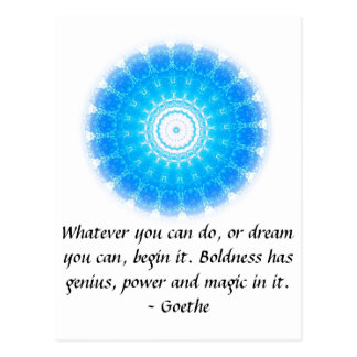 Dream Inspirational Quote GOETHE Postcard