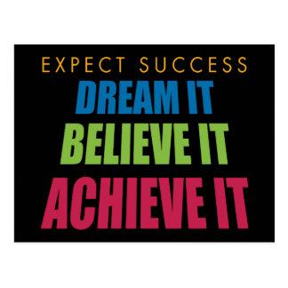 Dream It and Achieve It Postcard
