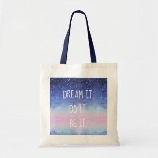 Dream It Do It Be It Starry Night Sky Tote Bag