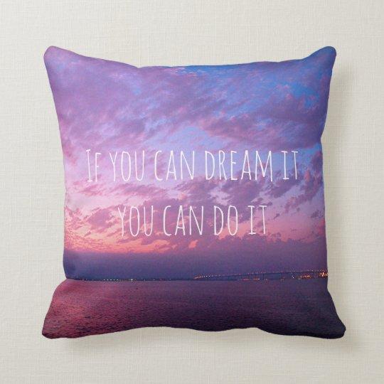 """Dream It Do It"" Quote Purple Sunset Photo"