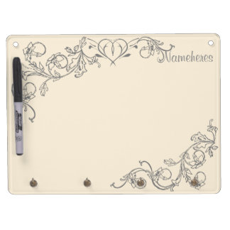 Dream Kitchen Design Series. Choose Color & Name! Dry Erase Board With Key Ring Holder