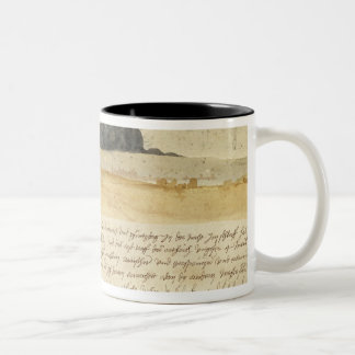 Dream landscape with text, 1526 coffee mug