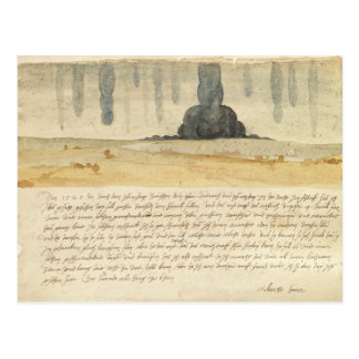 Dream landscape with text, 1526 postcard