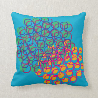 Dream-like colorful biomorphic abstract scene pillows