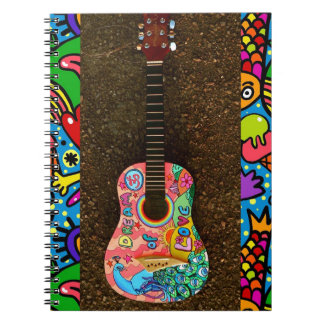 Dream Love Colorful Bright Guitar Notebook