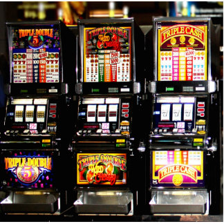 Dream Machines - Lucky Slot Machines Standing Photo Sculpture