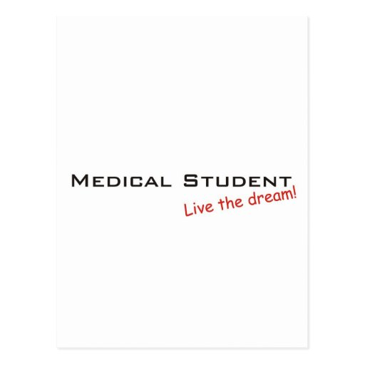 Dream / Medical Student Post Card