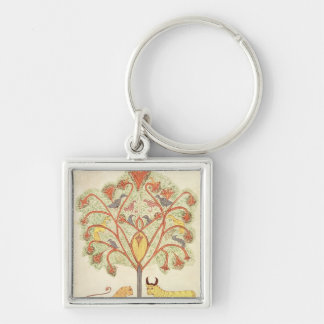 Dream of Nebuchadnezzar from the 'Bible Silver-Colored Square Key Ring