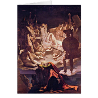 Dream Of Ossian By Ingres Jean Auguste Dominique Greeting Card