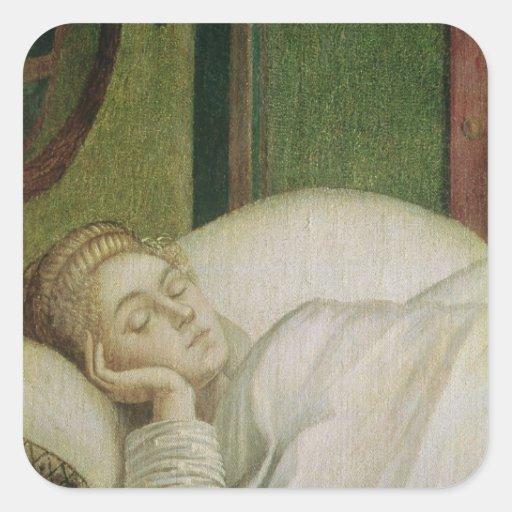 Dream of St. Ursula, 1495 Square Sticker